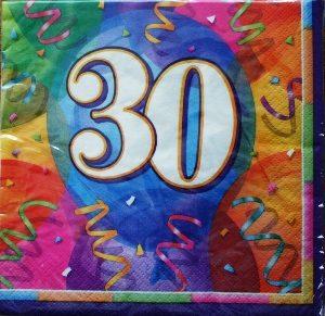 Jubilee Birthday 30 Napkins