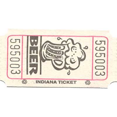 Roll Tickets - Beer