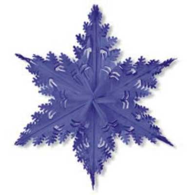 Metallic Snowflake Blue