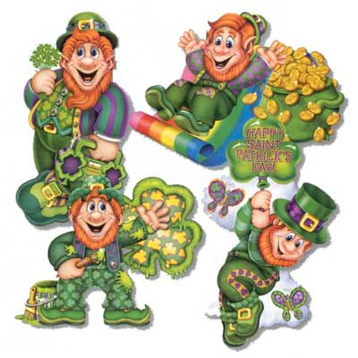 Jointed Leprechaun Cutouts