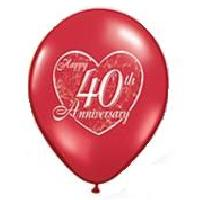40th Anniversary Heart - Ruby Red