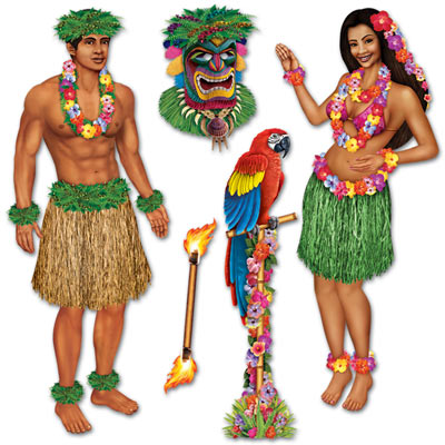 Assorted Luau Props