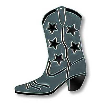 Boot Silhouette - Silver