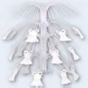 White Bell Cacade Centrepiece (ea)