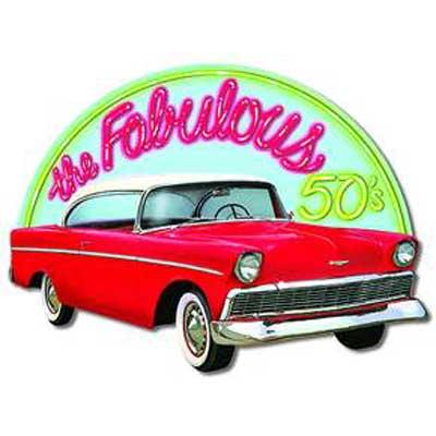 Fabulous 50's Car Sign