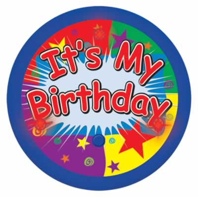 It's My Birthday Flashing Button