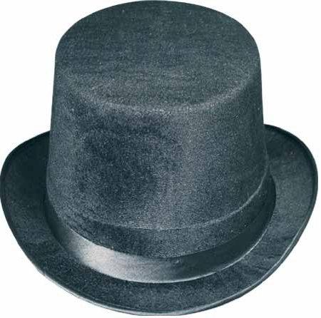 Black Vel-Felt Top Hat