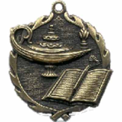 Sculptured Lamp of Knowledge Medal
