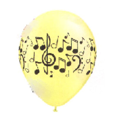 Neon Music Note Balloons