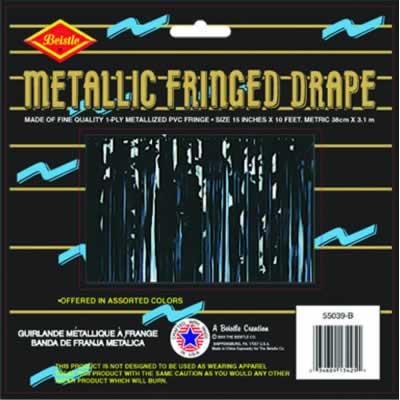 Black Metallic Fringe