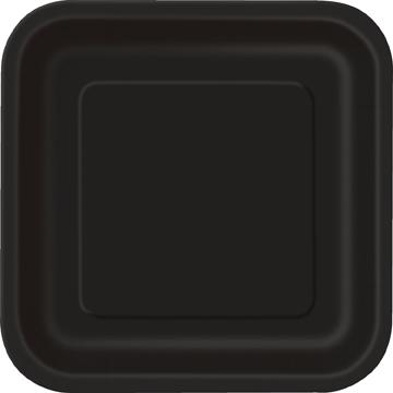 Black Square Plates