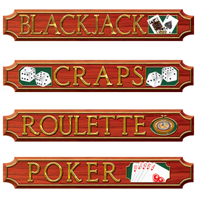 Casino Sign Cutouts