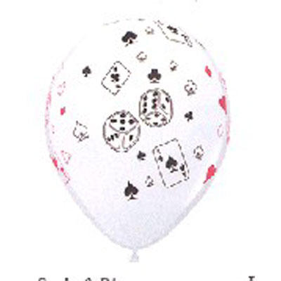 Cards & Dice Balloons