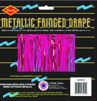Cerise Metallic Fringe