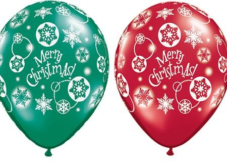 Christmas Snowflakes Balloons