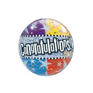 Congratulations! Bubbles Balloon