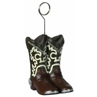 Cowboy Boot Photo/Balloon Holder
