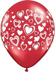 Double Hearts Balloons