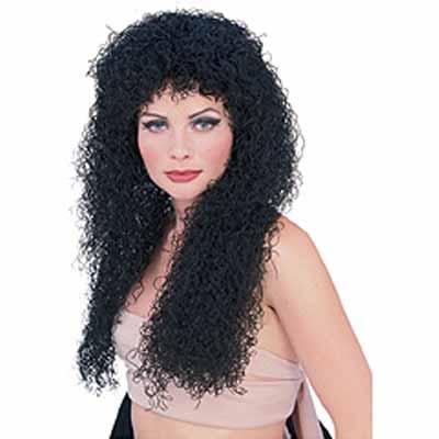 Long Curly Wig - Black