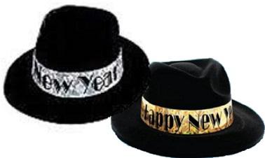 Happy New Year Black Fedora