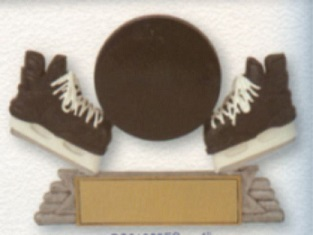 Hockey Icon Puck & Skate Trophy