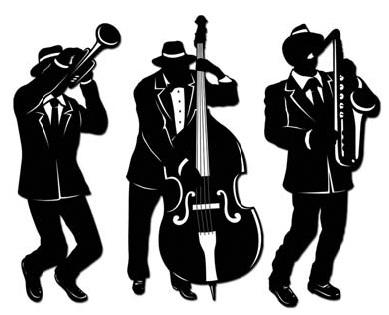 Jazz Trio Silhouettes