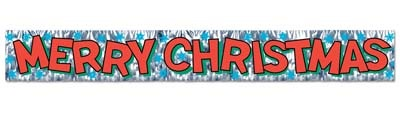Metallic Merry Christmas Banner
