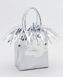 Mini Gift Bag Balloon Wt Silver