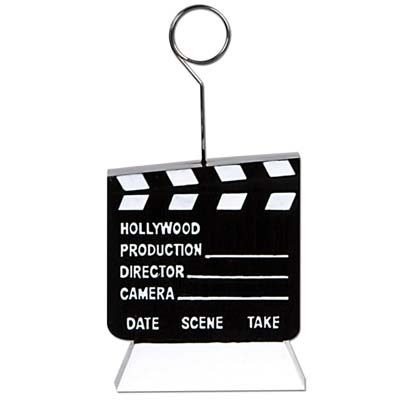 Movie Clapboard Photo/Balloon Holder 6 Ozs