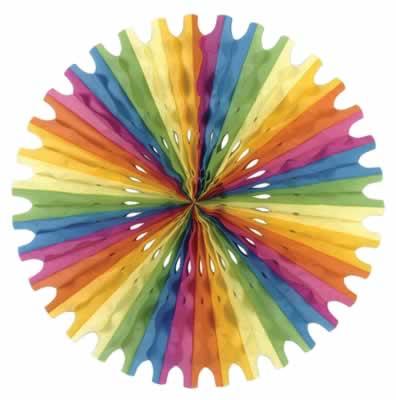 Multi Color Tissue Fan
