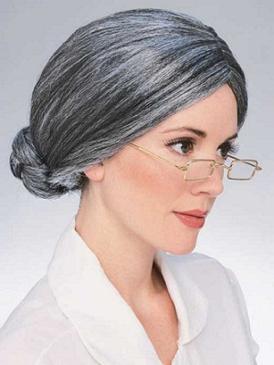 Old Lady Wig - Deluxe Grey