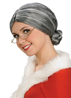 Old Lady Wig - Grey