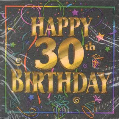 Happy 30th Birthday Napkins