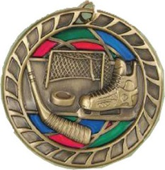 Stained Glass Hockey Medal