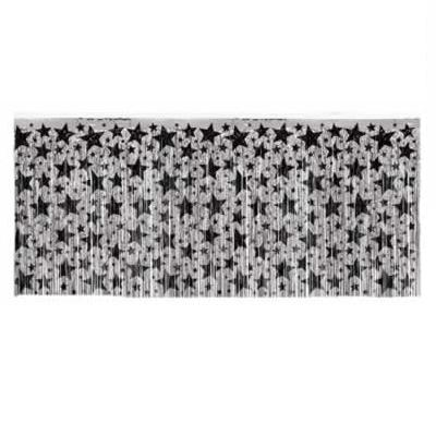 Star Metallic Fringe Table Skirting - Silver
