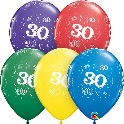 30-A-Round Balloons